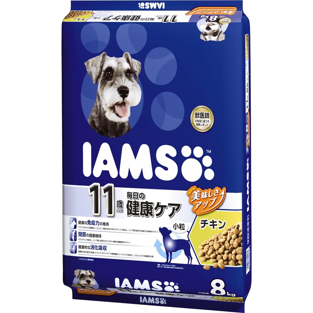 アイムス 11歳以上用 毎日の健康ケア チキン 小粒 8kg