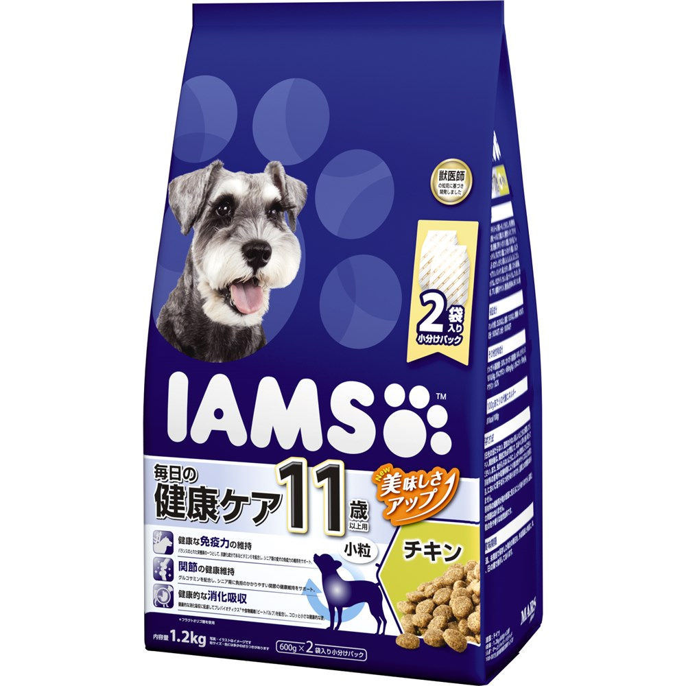 アイムス 11歳以上用 毎日の健康ケア チキン 小粒 1.2kg