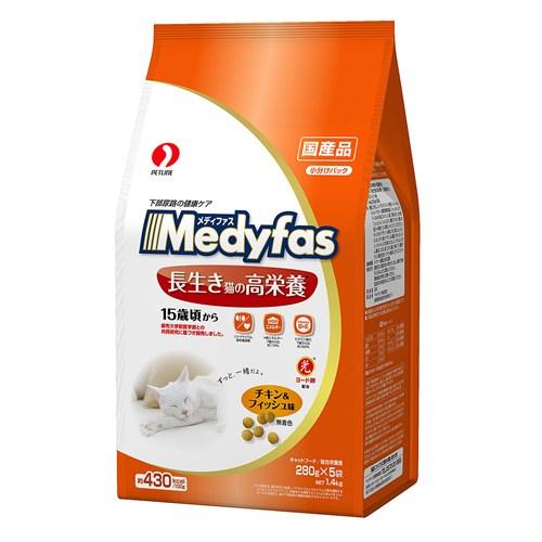 メディファス 長生き猫の高栄養 15歳頃から チキン&フィッシュ味 1.4kg