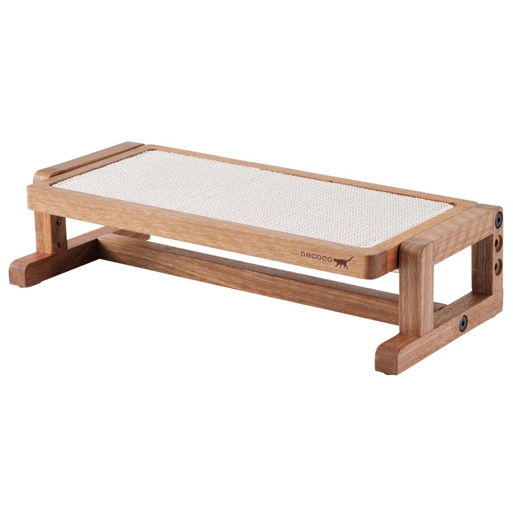 necoco 高さと角度を変えられるウッディキャットテーブル