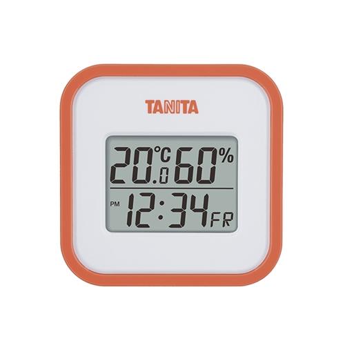 デジタル温湿度計 TT558 オレンジ