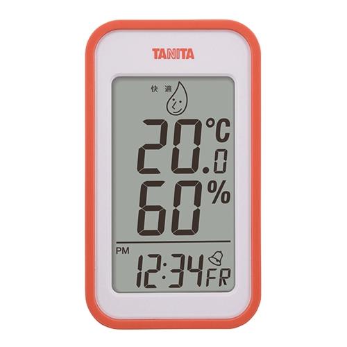 デジタル温湿度計 TT559 オレンジ