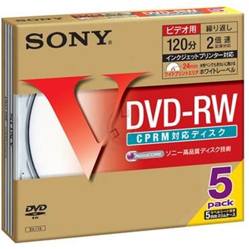 DVD−RW 5枚 5DMW12HPS
