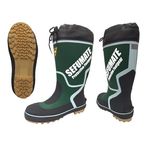 フジテ セフメイト 鉄芯入安全長靴 793 グリーン 25.0cm