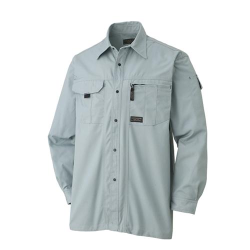 長袖シャツ 611−6 Nグリーン L