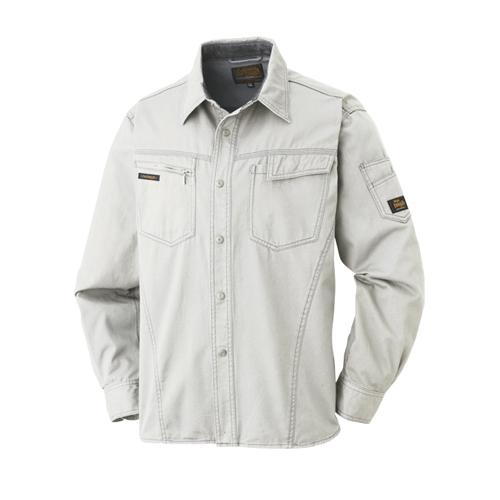 綿長袖シャツ 011−6 グレー M