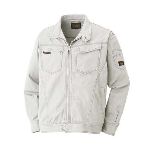 綿長袖ブルゾン 013−4 グレー LL