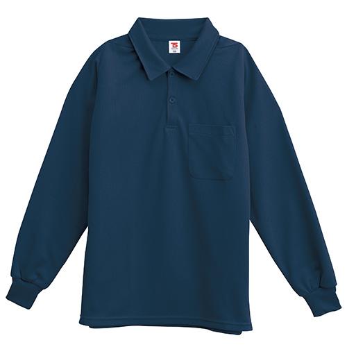 長袖ポロシャツ 2075 ネイビー M