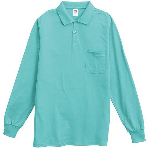 長袖ポロシャツ 1075 ミントグリーン 3L