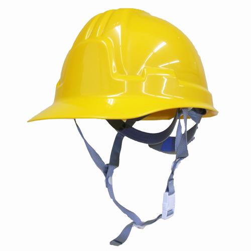 耐電ヘルメット黄 前ひさし型 STー185FZ