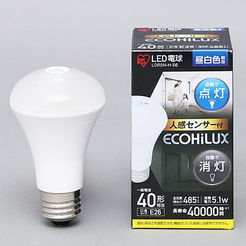 LED人感センサー付E26 40W 昼白色 LDR5N−H−S6
