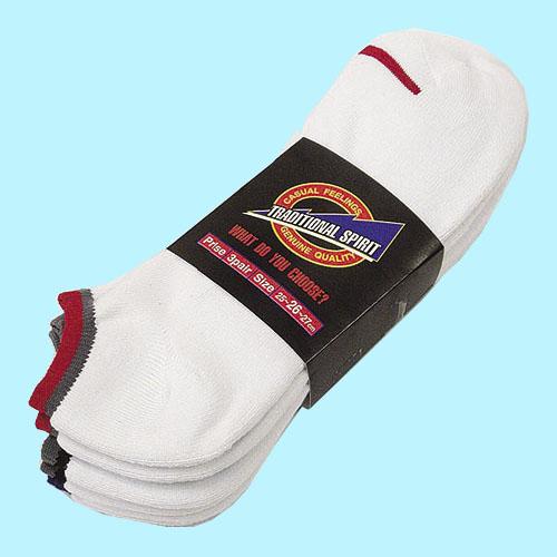 スニーカー先丸靴下 S−801 ホワイト 3足組