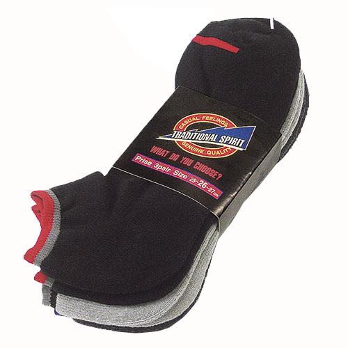 スニーカー先丸靴下 S−804 カラー 3足組