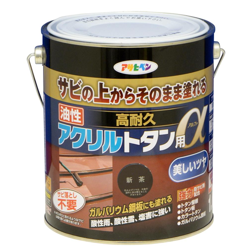 アサヒペン 12kg そのまま塗れる 油性高耐久アクリルトタン用塗料 新茶 屋外 屋根