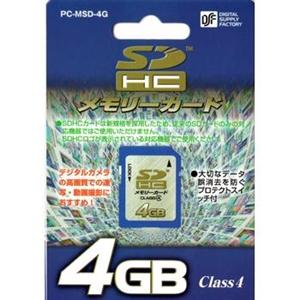 SDHCメモリーカード4GB PC−MSD−4G