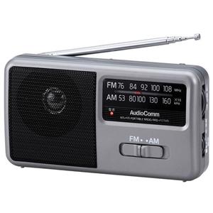 AM/FM ポータブルラジオ RAD−F1771M コンパクトサイズ スピーカー搭載 ワイドFM 補完放送対応