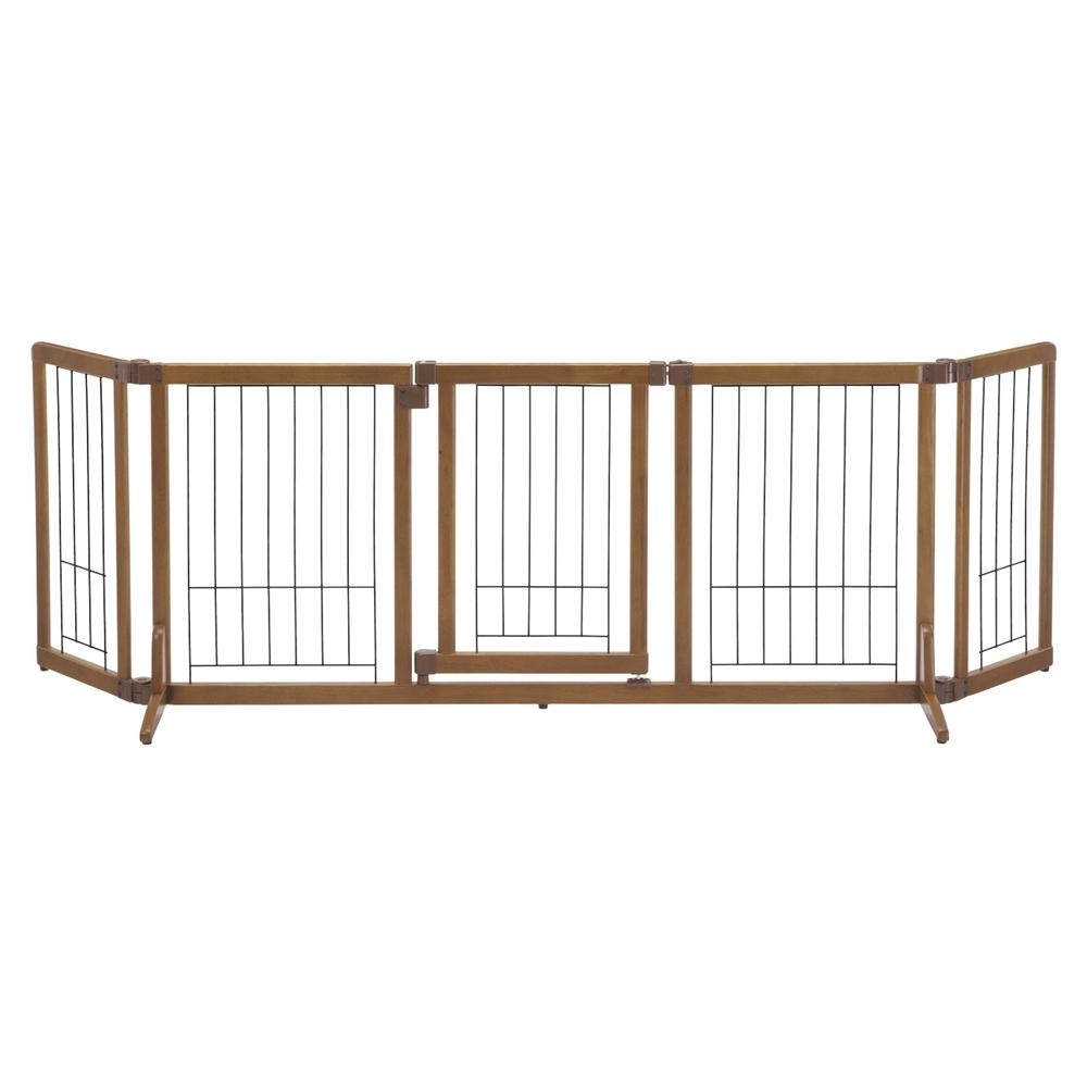 ペット用 木製おくだけドア付ゲート L