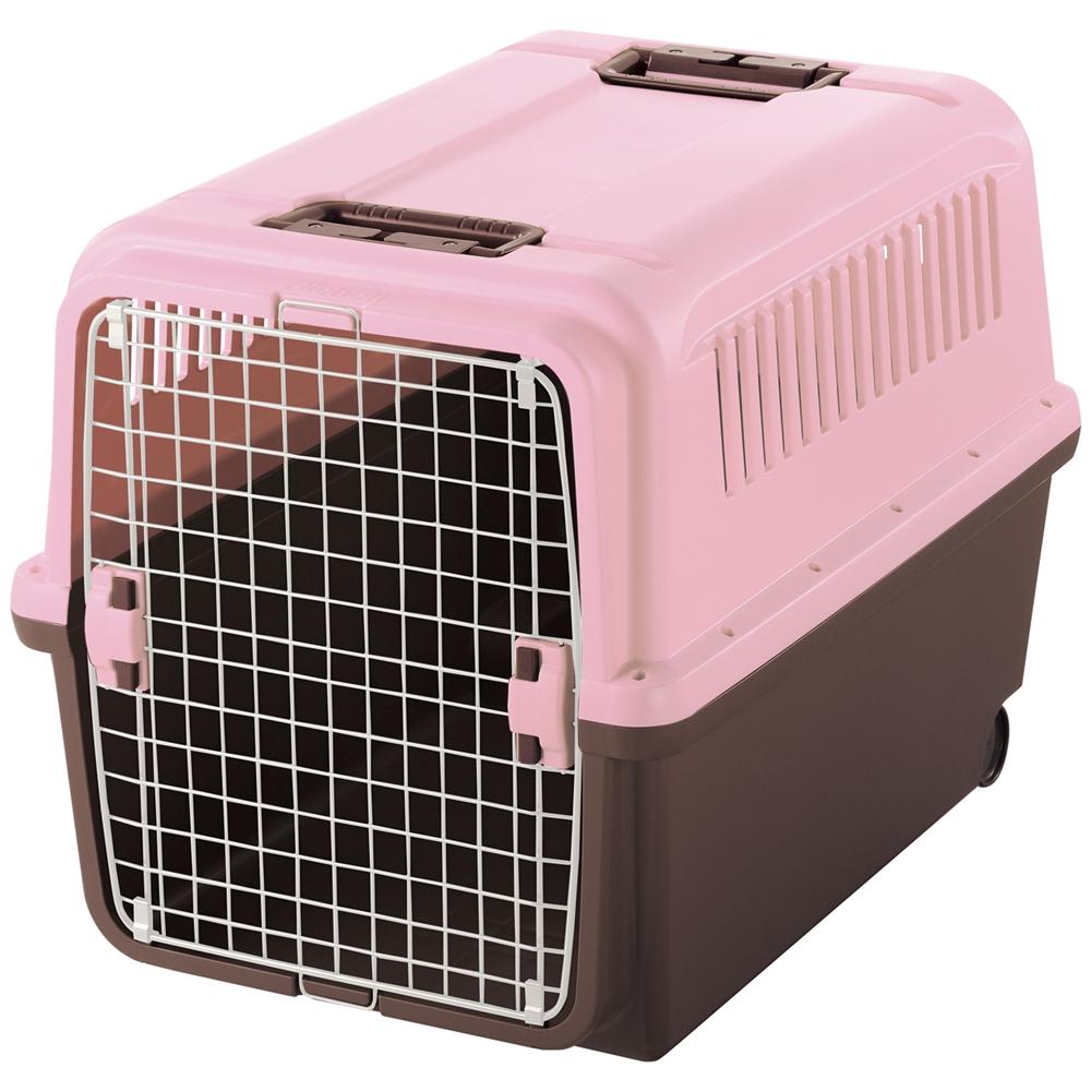 キャンピングキャリーXL ライトピンク ペットキャリー ペットカート ペットキャリーバッグ 猫 折りたたみ 中型犬 飛行機