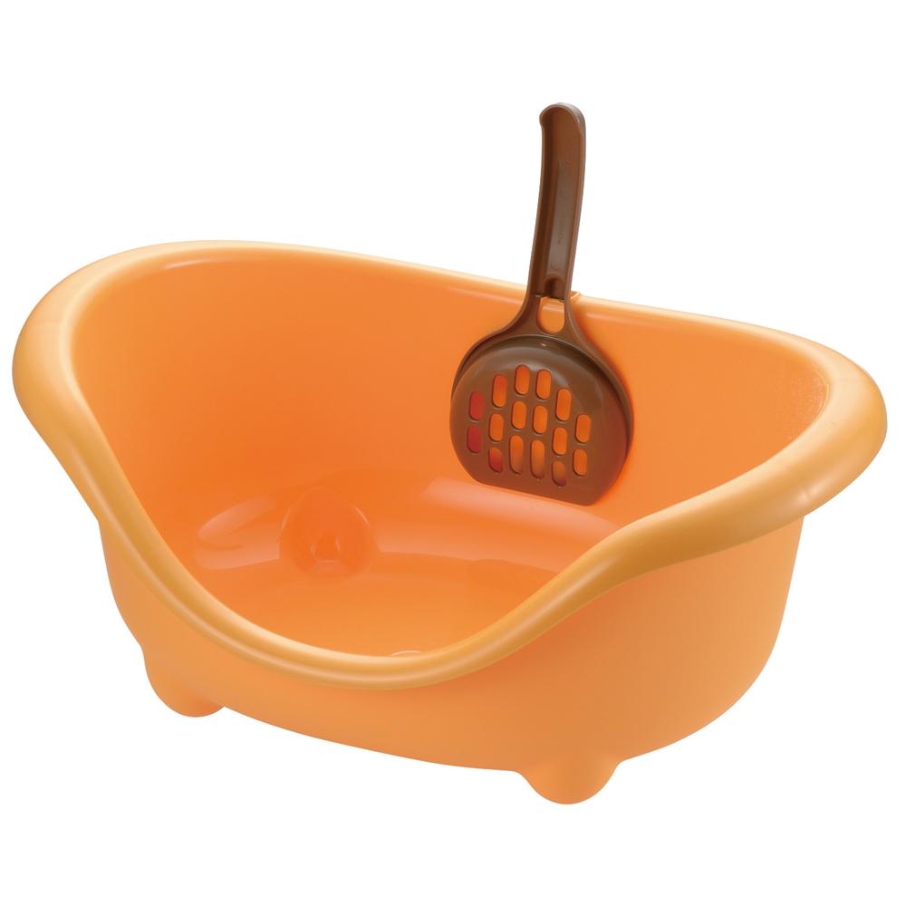 こネコのトイレ オレンジ