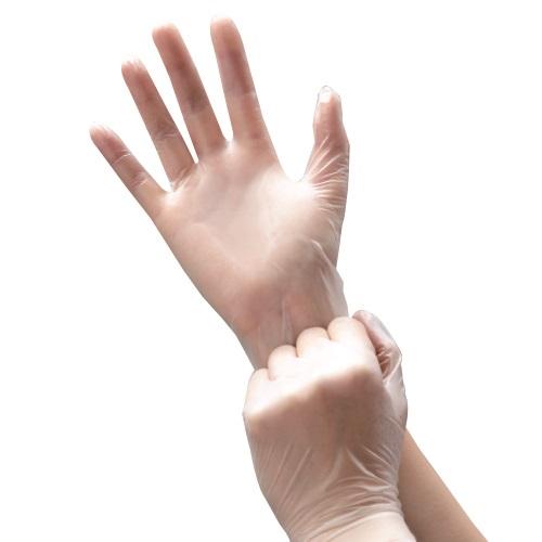 ビニール極薄手袋食適 M 粉なし 50枚入