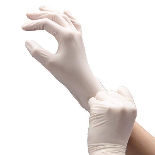 クイン天然ゴム手袋 100枚入 粉なし L
