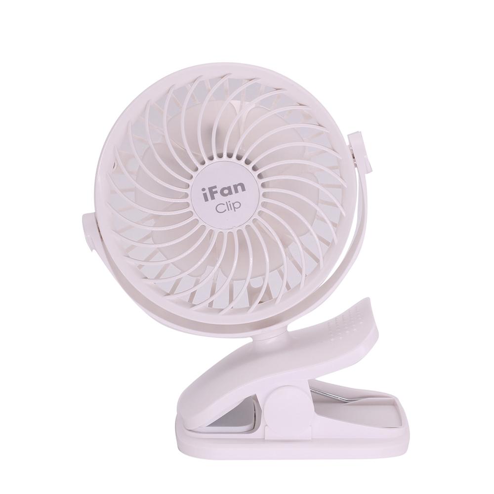 エレス 充電式コードレスファン アイファンクリップ ホワイト