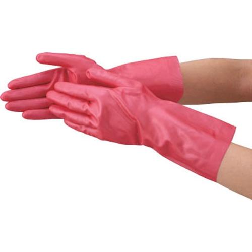 TRUSCO 天然ゴム手袋 中厚手タイプ ピンク Mサイズ DPM-5494-P-M