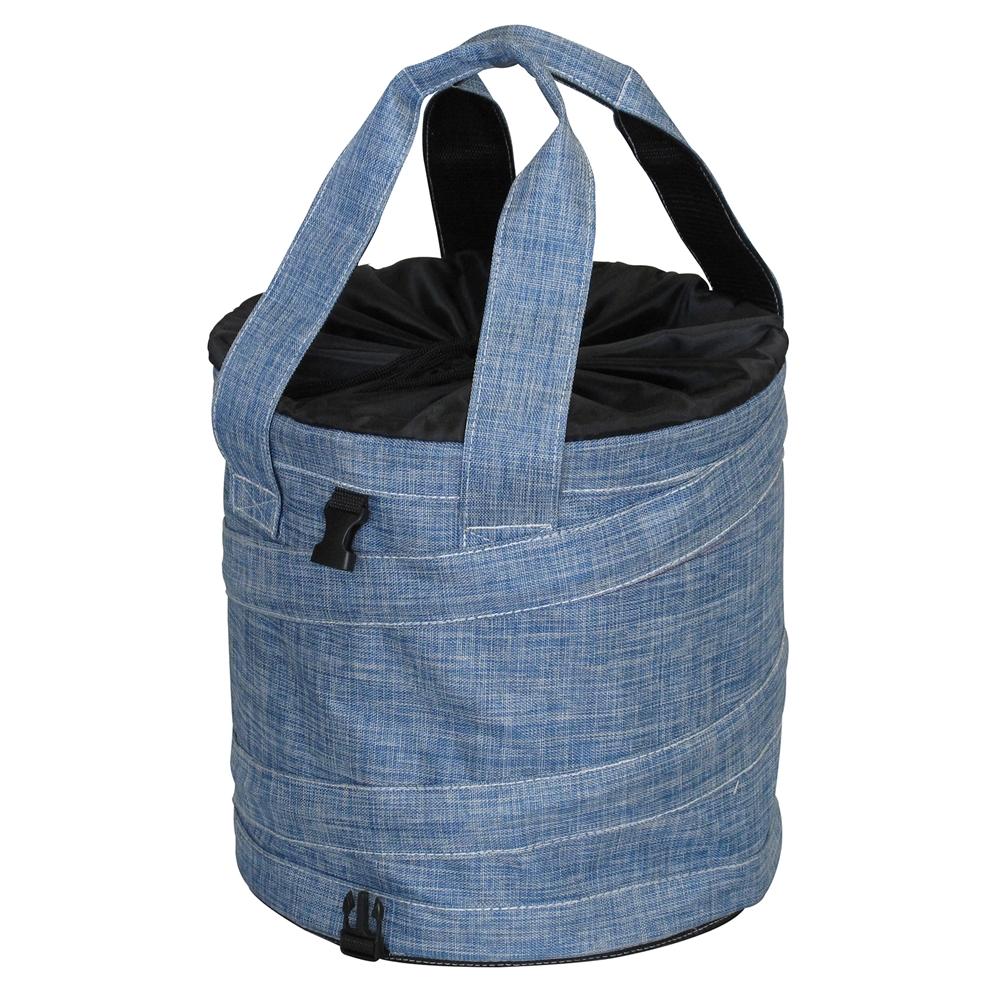 アステージ(ASTAGE) ポッピングバッグ丸型 ブルー PR‐300B(折畳式多用途バケツ)