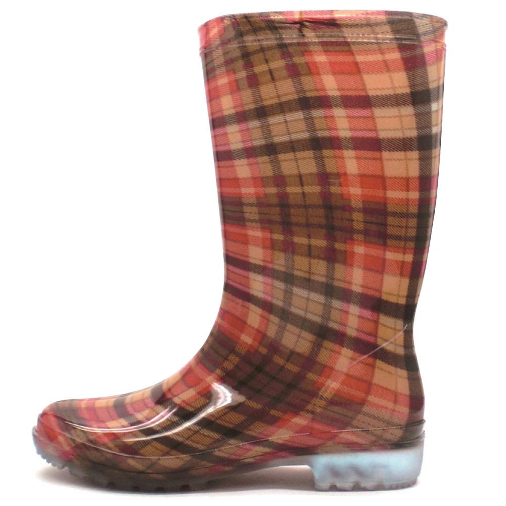レディース長靴 LB8120 チェックローズ L