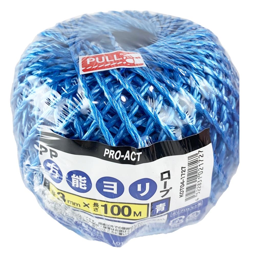 PROACT(プロアクト) PP万能ヨリロープ青3mm×100m