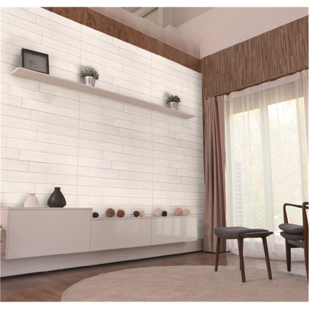 壁デコパネル木目調  約77×71cm ホワイト