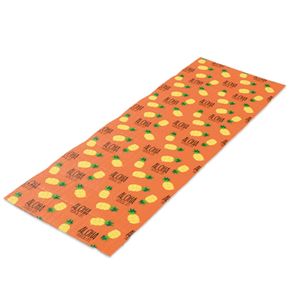 コーナン オリジナル アロハパイナップル 折畳アルミマット S オレンジ 厚5mmX幅600X長さ1800mm