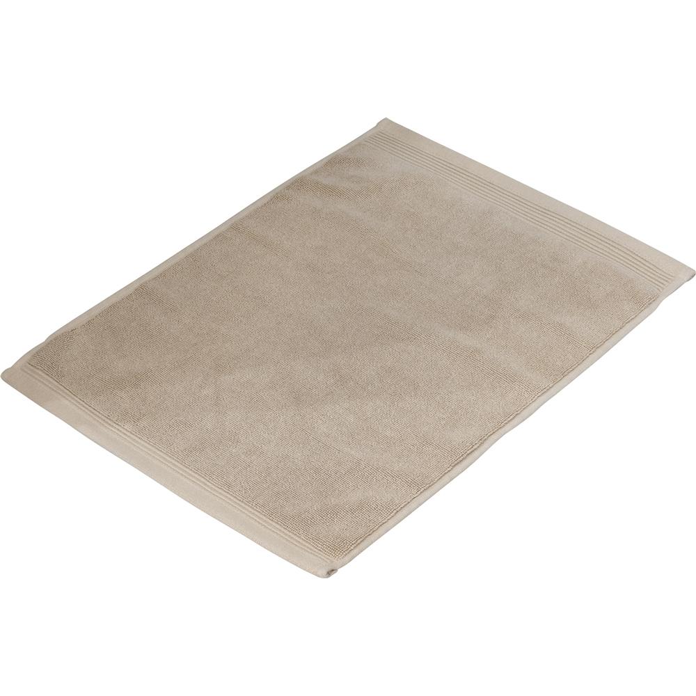 タオルバスマット ベージュ 約34×45cm