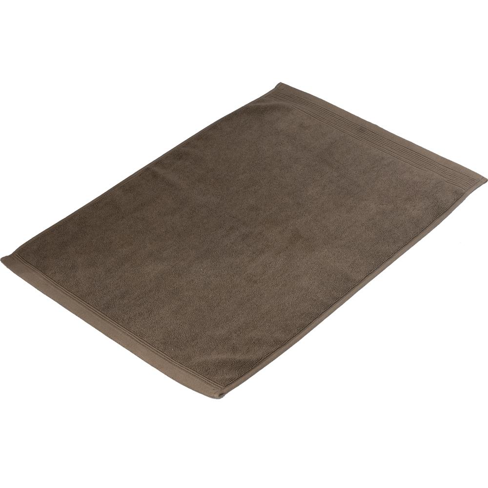 タオルバスマット ブラウン 約40×60cm