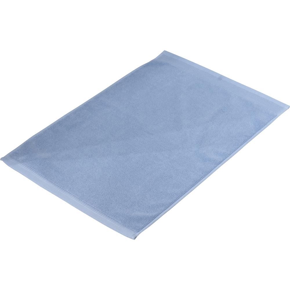 タオルバスマット ブルー 約40×60cm