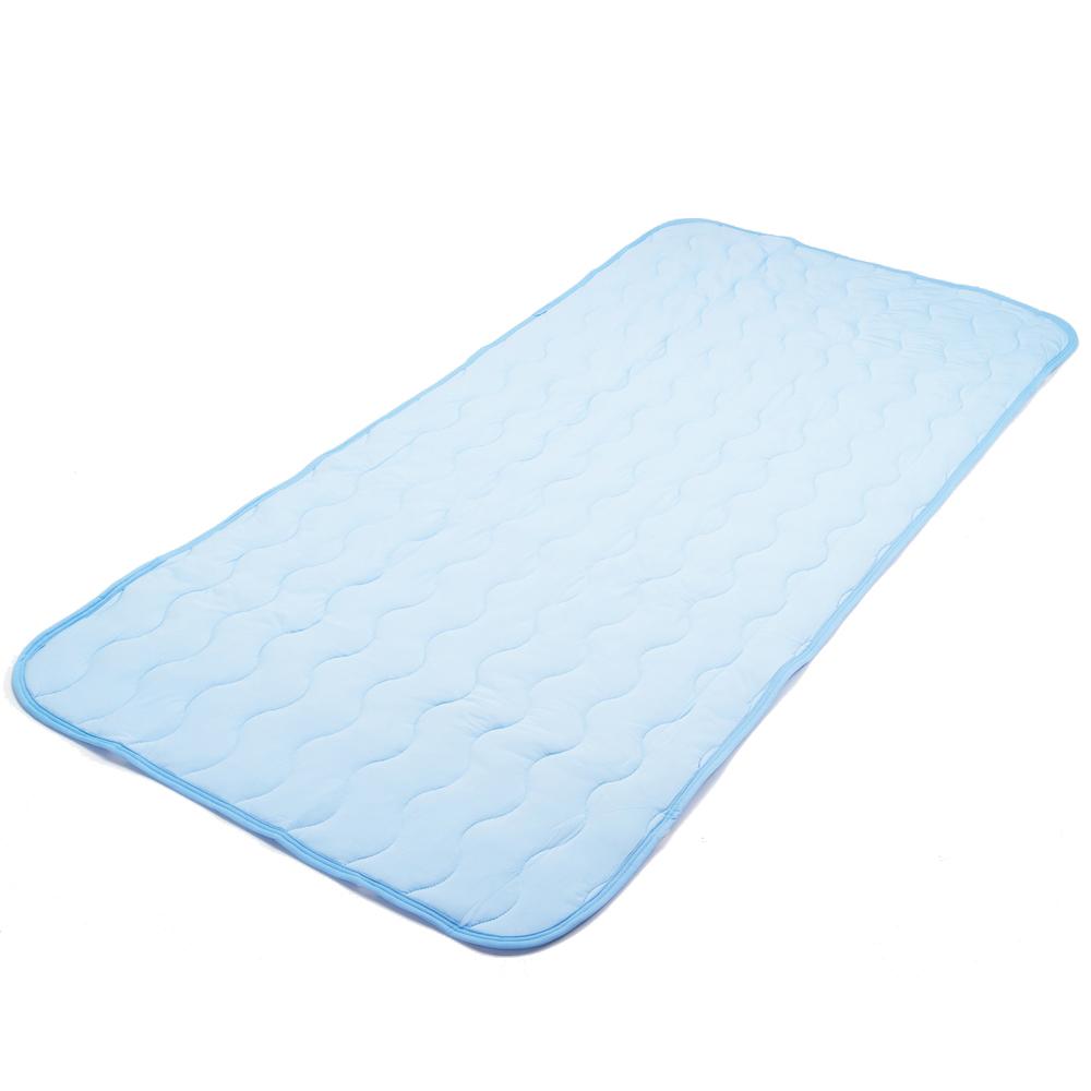 ひんやり敷パッド 約120×205cm ブルー