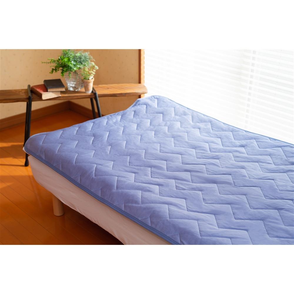 持続冷感敷パッド 約100×205cm ブルー