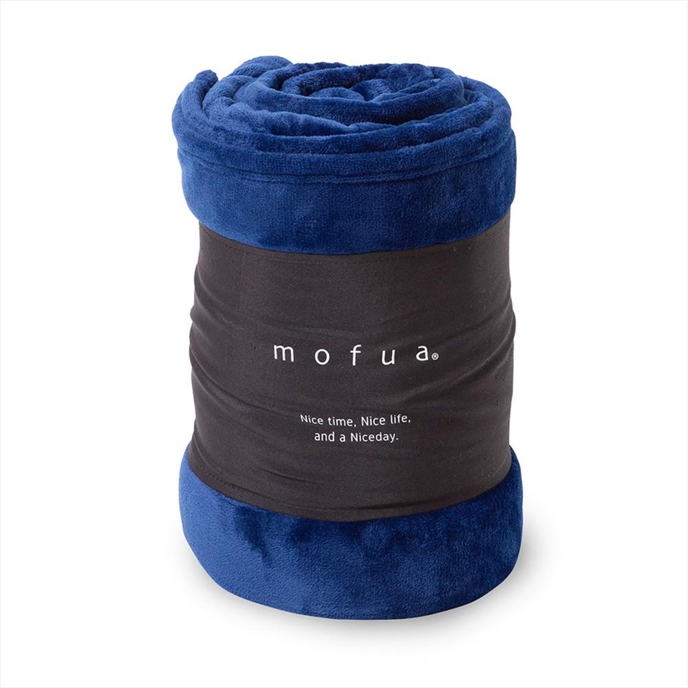 mofua プレミアムマイクロファイバー毛布 シングル ネイビー 50000107-S-NV