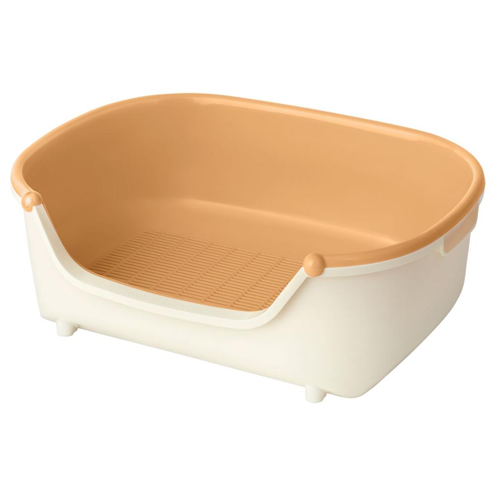 ニャンとも清潔トイレ 子ねこ用セット [コンパクトタイプ] [アイボリー&オレンジ]