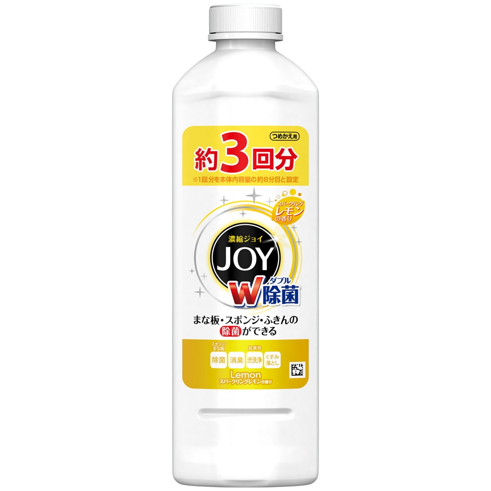 除菌ジョイコンパクト 食器用洗剤 スパークリングレモンの香り つめかえ 440ml