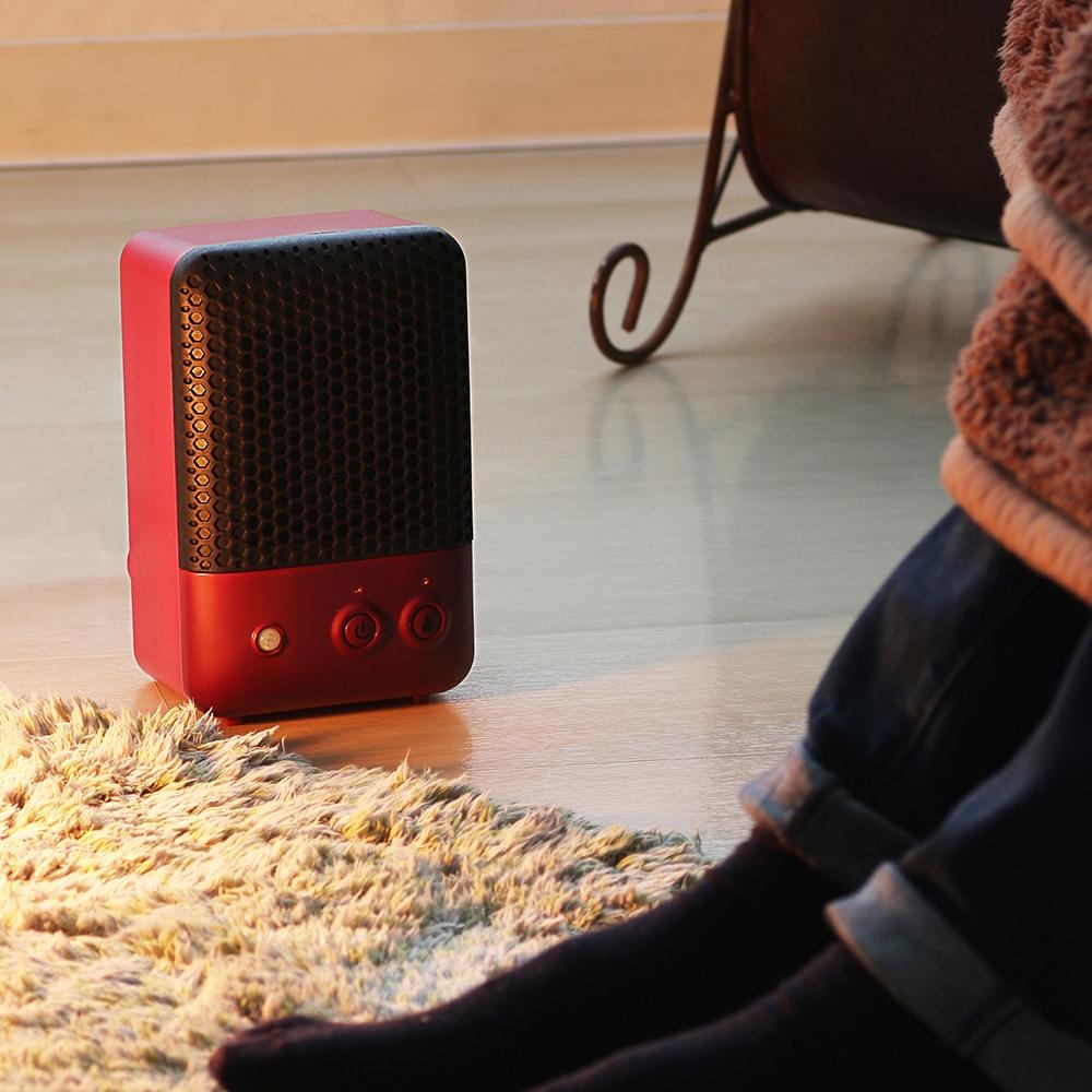 PRISMATE 人感センサー付セラミックヒーター PR−WA001 ワインレッド
