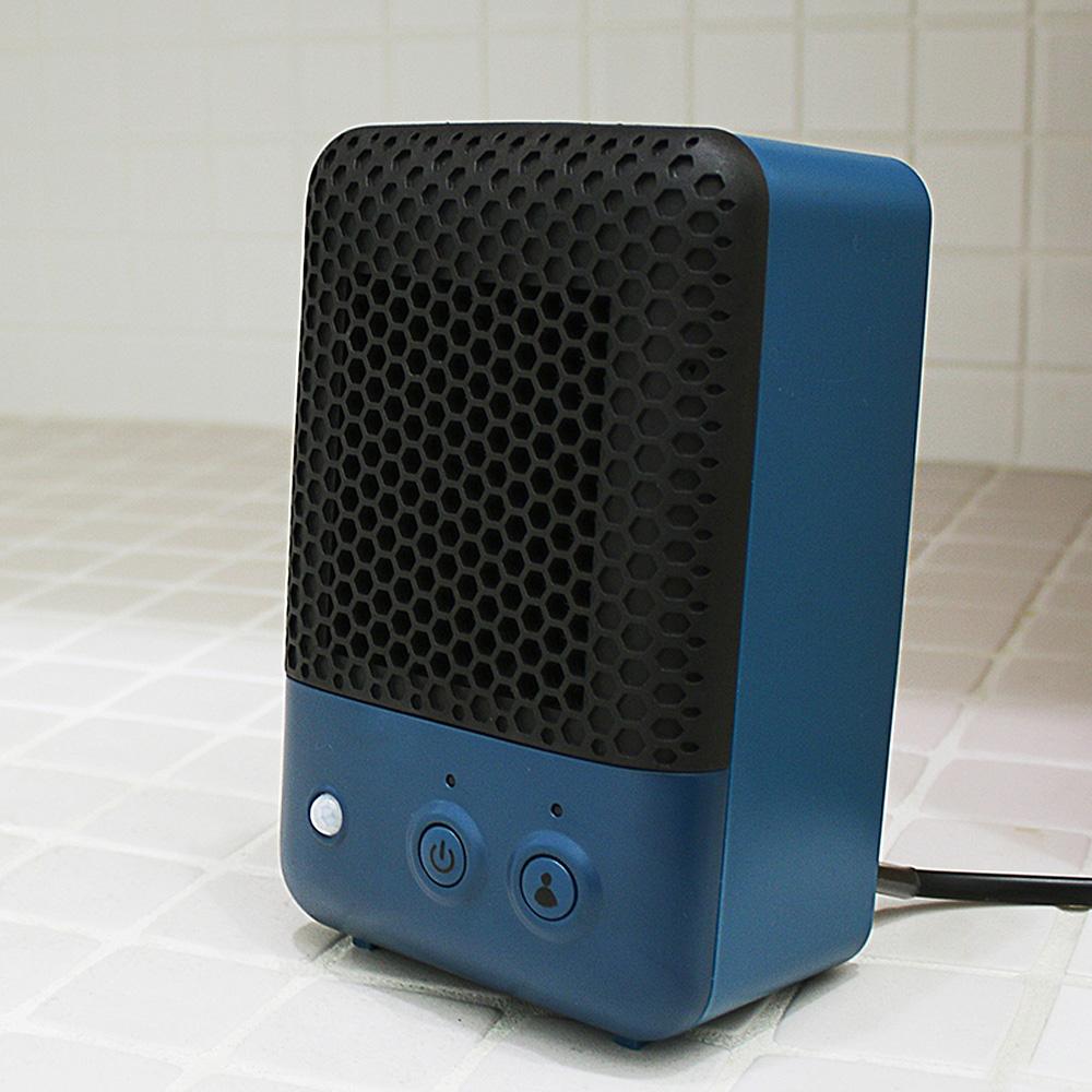 PRISMATE 人感センサー付セラミックヒーター PR−WA001 マリンブルー
