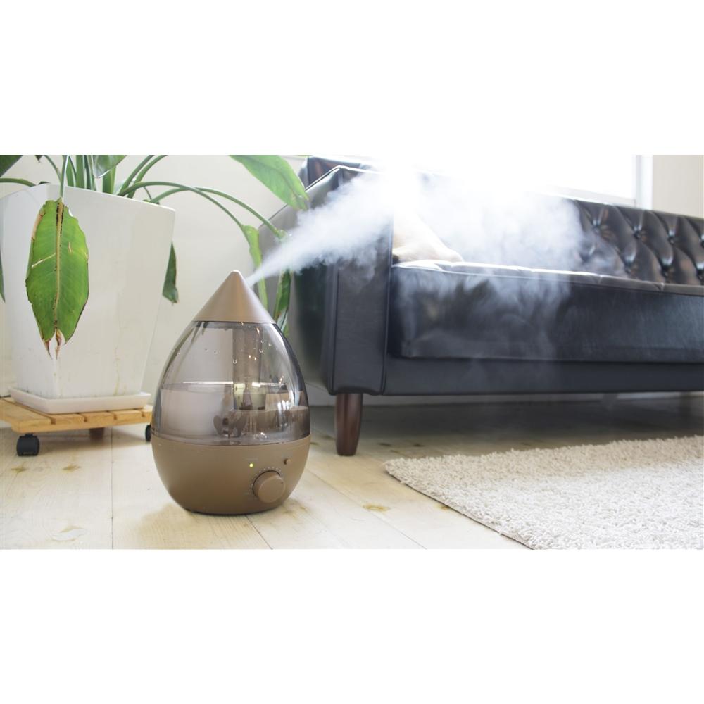 きれいなミストで加湿するアロマ超音波式加湿器 NO−004 ブラウン