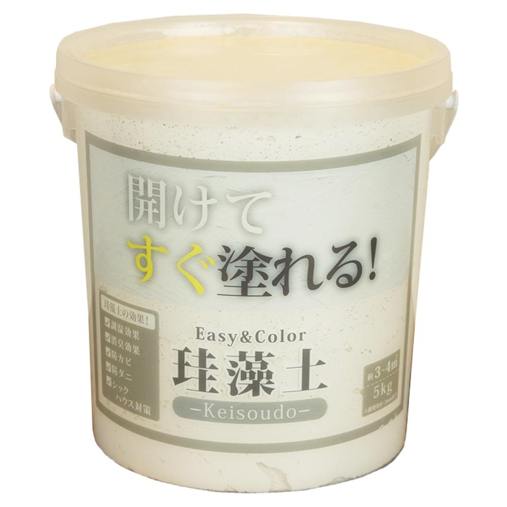 ワンウィル Easy&Color珪藻土 5kg ホワイト 3793060001