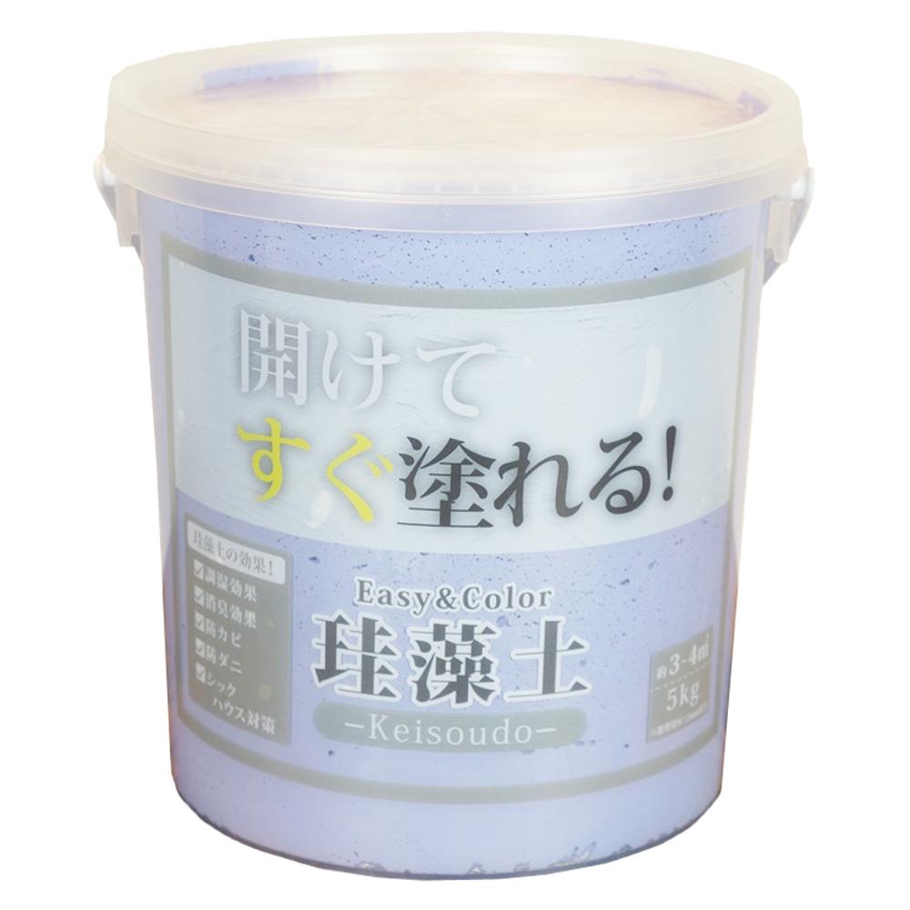 ワンウィル Easy&Color珪藻土 5kg パープル 3793060012