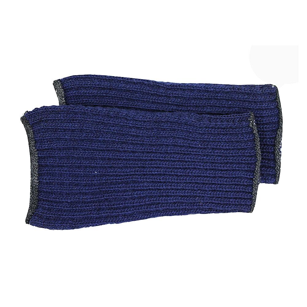 カラーニット手甲1740−3P 紺