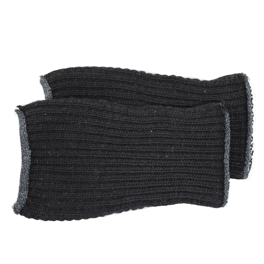 カラーニット手甲1740−3P 黒