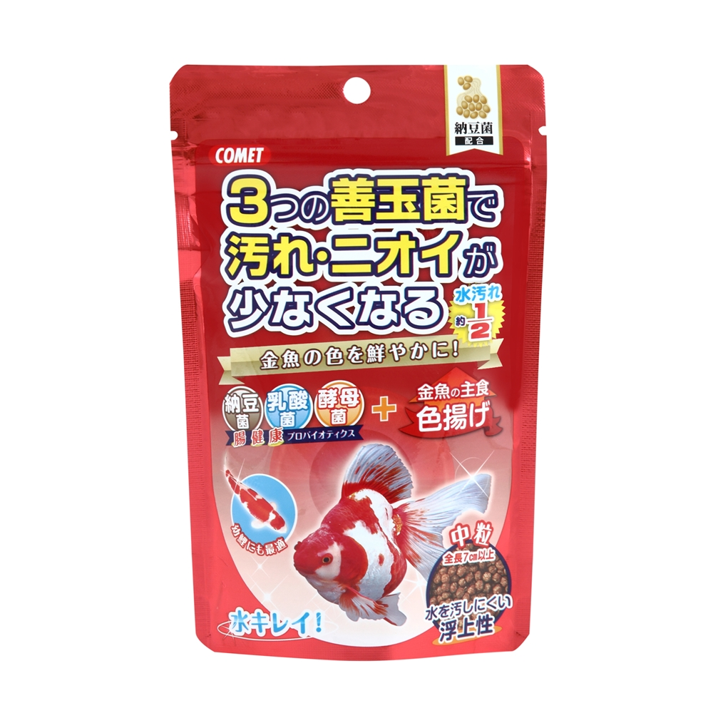 金魚の主食納豆菌色揚げ中粒 90g