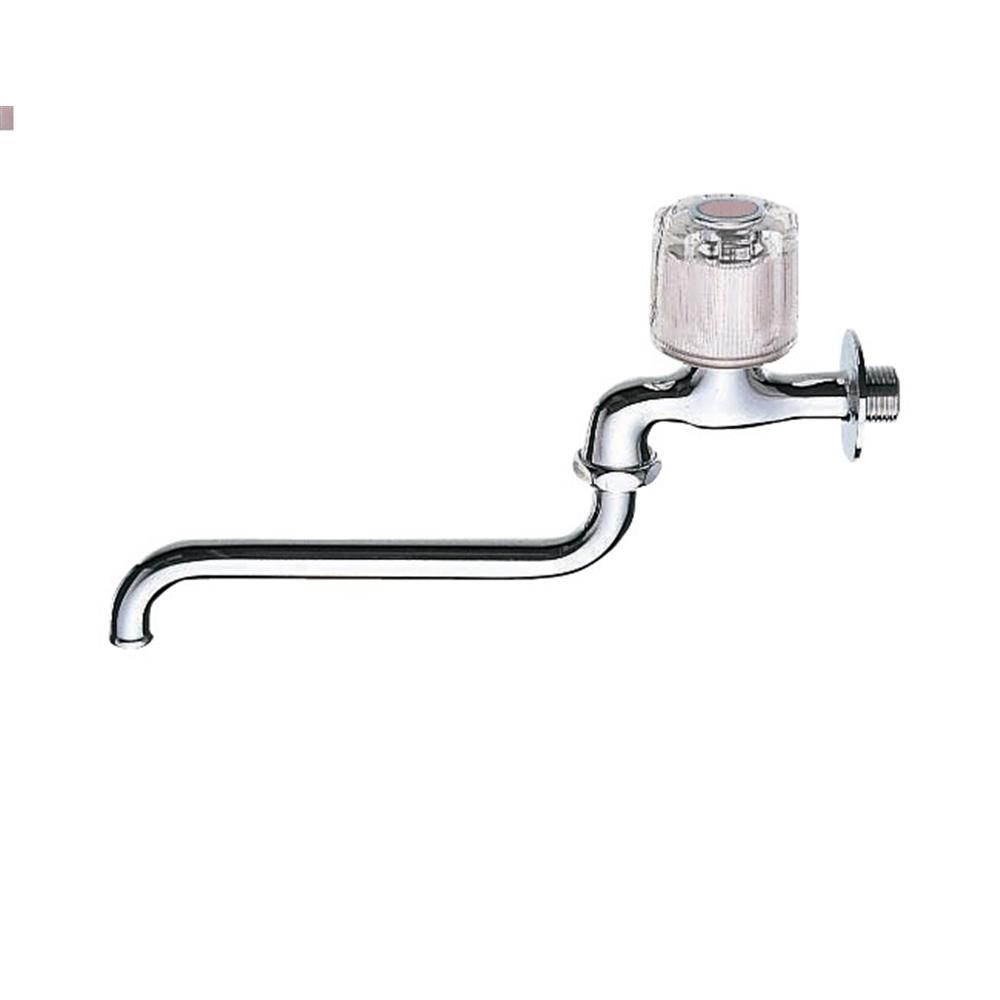 SANEI 【自在水栓】 呼び13 クリスタルハンドル レッド POS付 JA10JC−13−R