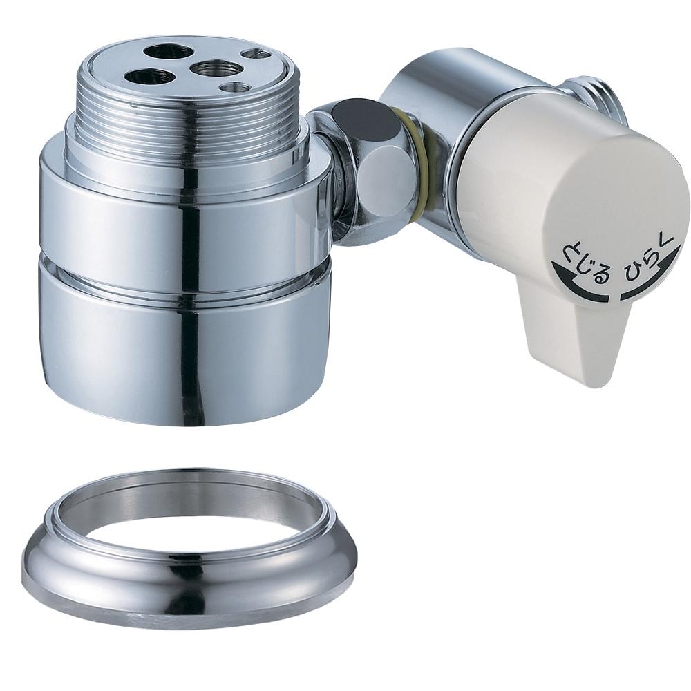 SANEI 水栓部品 シングル混合栓用分岐アダプター SAN-EI用 新型カートリッジ用(カートリッジ色:緑)